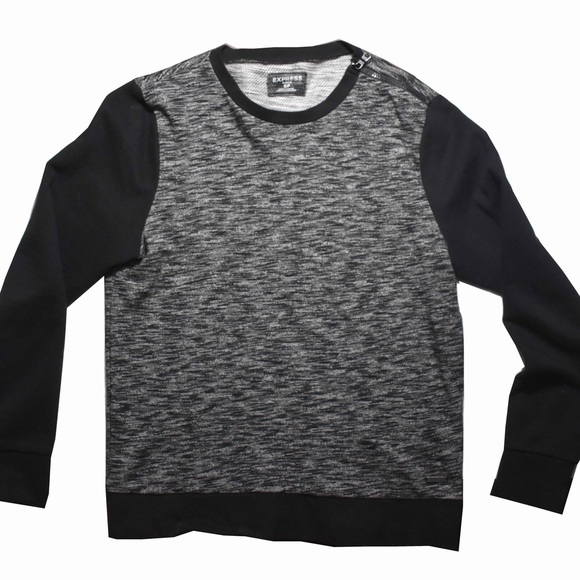Express Men\u2019s Crew Neck Sweater Side Zip Small